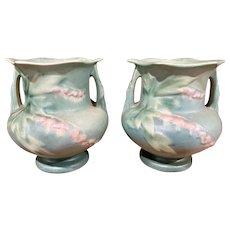 Roseville Pottery Green Bleeding Hearts Vase