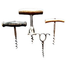 Vintage Antique 4 Corkscrews