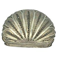Sterling Silver Shell Keepsake Box