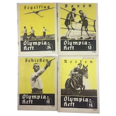 Berlin Olympics 1936 Books, Shooting, Boxing, Riding, Gliding