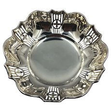 English Sterling Silver Bon Bon Dish 1921