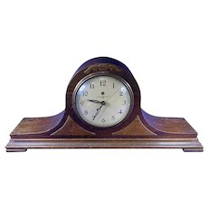 Vintage 1930's GE General Electric 4F06 Art Deco Wood Mantle WORKS Clock a212