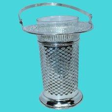 American Edwardian Pierced Sterling Silver Basket by Meriden Britannia Co