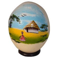 Gorgeous Handpainted African Ostrich Egg