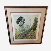 """John Ruthven Limited Edition Lithograph """"Rummy"""" English Setter Sporting Dog Series"""