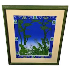 "David Lavington Limited Edition Artist Proof Silkscreen Print ""Midnight"" with COA"