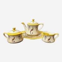 Antique Royal Doulton Bird of Paradise Porcelain Tea Set Made in England