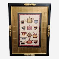 Vintage John Richard Wall Hanging Print of Teapots & Vases
