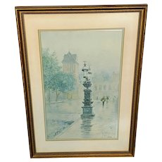 """Paul Sawyier Limited Edition Lithograph """"Wapping Street Reflections"""" 3209/3500"""