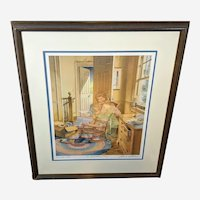 "Charles L Peterson Limited Edition Artist Proof Lithograph ""A Bedtime Story""  32/260"