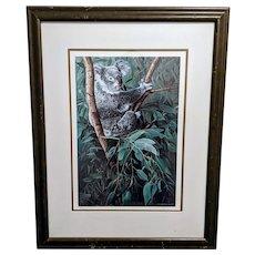 "Ron RS Parker Limited Edition Koala Print ""Eucalyptus Climber"""