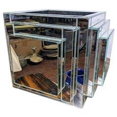 Mid Century Modern Cube Mirror Planter