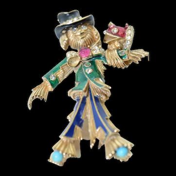Ciner Scarecrow Brooch Pin