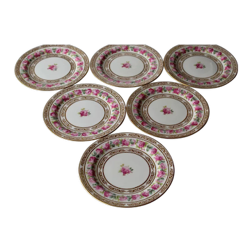 Cauldon England Gorgeous Set Of Six Dinner Plates