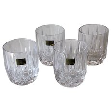 Mikasa Fairhaven Full Lead Crystal Set Of Four Old Fashioned Glasses