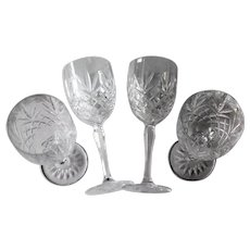 Cristal D'Arques-Durand Provence Set Of 4 Crystal Goblets