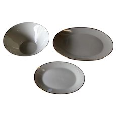 Rosenthal Classic Gold Platter and Vegetable Bowl & Relish