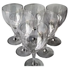 Tiffin Oaklawn Set Of Six Water Goblets