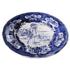 Royal Doulton England Blue & White Plate