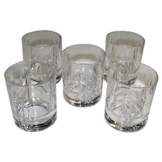 Cristal D'Arques Durand Arizona Parallels Double Old Fashioned Glasses