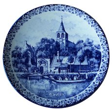 Delfts Holland Maastricht Wall Charger Decorative Plate