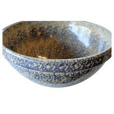 Robinson Ransbottom Spongeware Pottery Large 15 inch Mixing Bowl