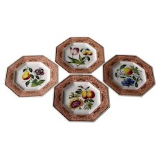 Spode St George Cabinet Collection Set of Four Dessert Plates