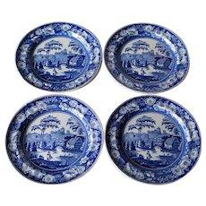 John Meir & Sons Wild Rose Antique Set Of Four Plates