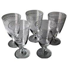 Fostoria Circlet Set Of Five Ice Tea Glasses