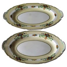 Grindley Gosforth England Set Of Two Platters