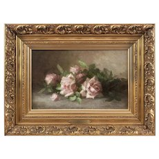 Anna Eliza Hardy (American: 1839-1934), Roses, an Impressionist Still Life by a Historic Woman Artist