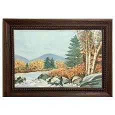 Audrey Shefchik (American: 20th Century), Folk Autumn Landscape