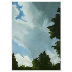 Megan Bongiovanni (American: b. 1975), Summer Evening, a Contemporary Landscape Painting