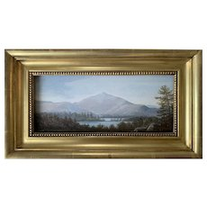 Lauren Sansaricq (b. 1990), View of Mt Chocorua, White Mountains, NH, Painted in the Style of the Hudson River School