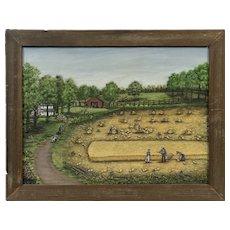 Minnie Reinhardt (American: 1898-1986) North Carolina Folk Farm Scene
