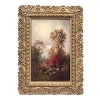 Annie Cornelia Shaw (American: 1852-1887), 19th Century Autumn Landscape by Female Hudson River School artist