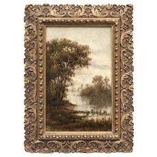 Annie Cornelia Shaw (American: 1852-1887), 19th Century Summer Landscape by Female Hudson River School artist