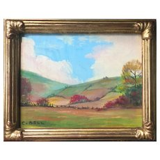 Clara Louise Bell (American: 1886-1978), Woodstock, NY, a 20th Century Landscape by an Historic Woman Artist