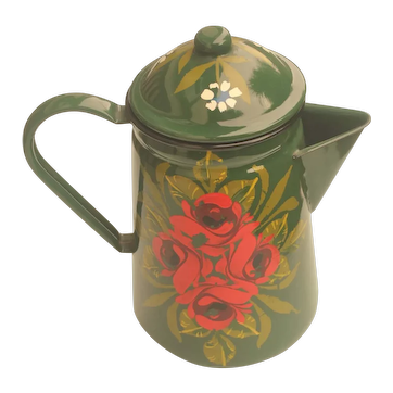 Vintage Hand Painted Canal Ware Jug by Rod Taylor.