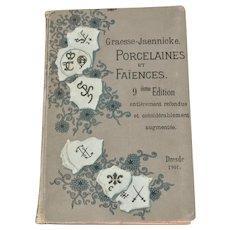 1901 Porcelain Marks Reference Book. Illustrated Base Markings Guide.