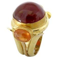 Garnet in Spessartine and Hessonite 18K Ring