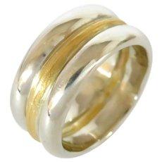 18K and 24K Three Band Ring
