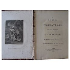 Very RARE Antique 1822 Series of Engravings-Works of Shakespeare-Howlett & Brimmer-London-Hector McLean