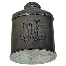 Antique monogrammed powder bottle Foster & Bailey