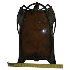 Copper Art Nouveau Frame With Bi