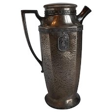 Silver plate cocktail shaker