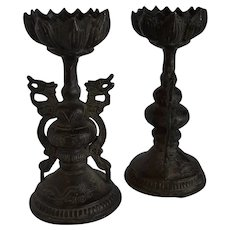 Bronze candle sticks.
