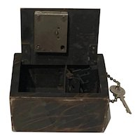 Savings Bank, Piggy Bank, The German-American Trust Co. Denver, Colorado. with Key and Handle