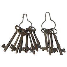 Vintage and Antique Group of Skeleton Keys