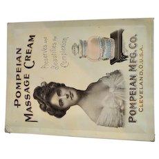 Pompeian Massage Cream Ad Display